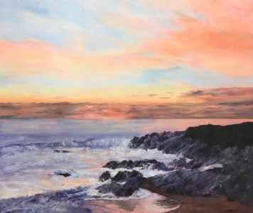 sunset fistral bay